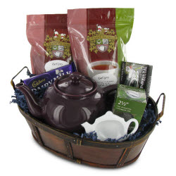 A gift basket with good teas in it can get you started on a real tea journey! (ETS image)
