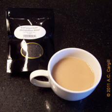 Earl Grey Cream tea makes a good start to Earl Grey Milk Tea. (Photo by A.C. Cargill, all rights reserved)