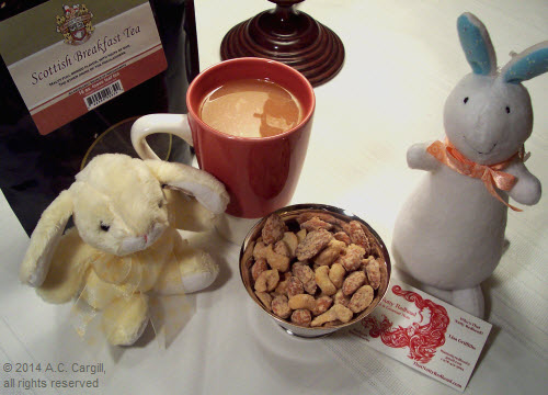 Nutty tea party! (Photo by A.C. Cargill, all rights reserved)