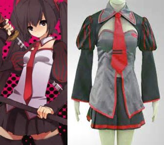 Vocaloid Zatsune Miku Cosplay Asian Anime Costume (screen capture from site)