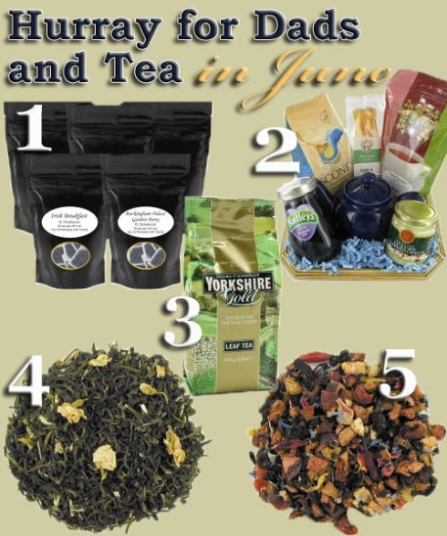 "5 ""fatherly"" teas for June (fathers are so special). (ETS image composite)"
