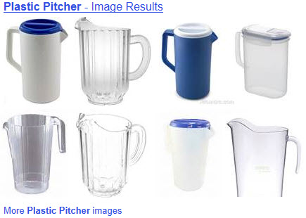 Plastic pitchers come in a lot of styles. The lidded ones are your best picnic option. (ETS image)