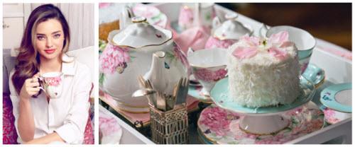 Royal Albert Teacup Designs for Miranda Kerr (Screen capture from site)