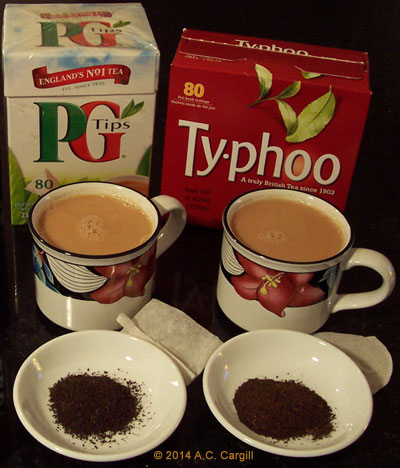 Two of the British fave brands in our tea pantry! (Photo by A.C. Cargill, all rights reserved)