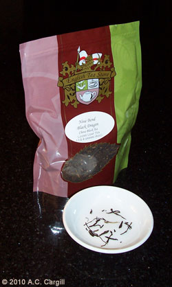 Nine Blend Black Dragon Tea – very dad-like (Photo by A.C. Cargill, all rights reserved)
