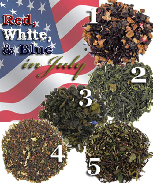 "5 very ""independent"" teas for July. (ETS image composite by A.C. Cargill)"