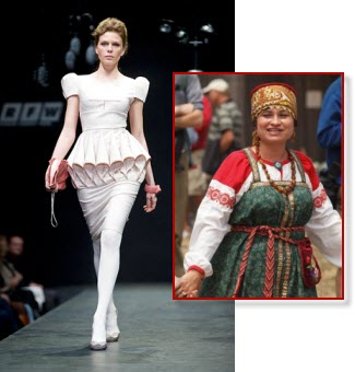 Russian women's fashion – from traditional to ultra-modern (images via Yahoo! Images)
