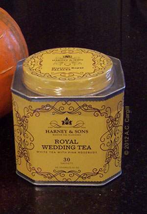 Harney has a history of coming up with special blends for special occasions. I tried this one awhile ago. (Photo by A.C. Cargill, all rights reserved)