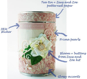 Getting fancy with that tea tin redo. (Screen capture from site)