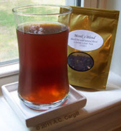 Monk's Blend is great when chilled or with ice. (Photo by A.C. Cargill, all rights reserved)