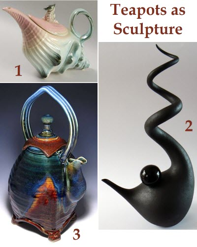 3 examples of teapots transcending to the sculpture category (from Pinterest)