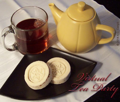 A typical virtual tea party posting! (Photo by A.C. Cargill, all rights reserved)