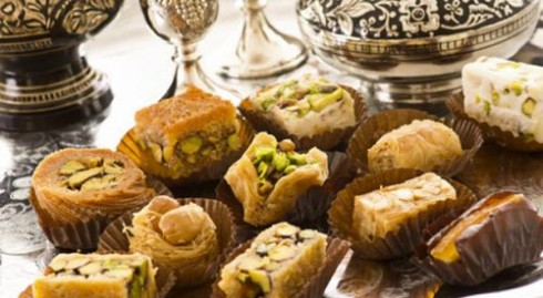 Baklava Turkish Delights tea time (screen capture from site)