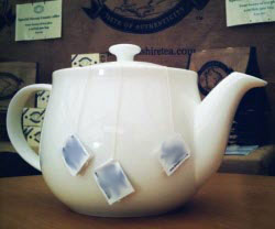 Steeping teabags in the teapot just like grandpa did. (Stock image)