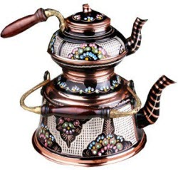 Handmade Hand-painted Copper Teapot Stovetop Tea Kettle - Magnificent ArtWork Handmade in Turkey (screen capture from site)