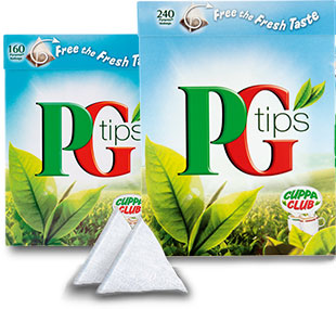 PG Tips pyramid teabags (from the PG Tips official site)