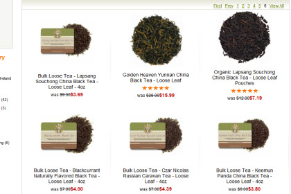 Some of the many black teas available for tea drinkers. (ETS image)