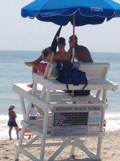 Lifeguards at Bethany Beach Delaware (via Yahoo! Images)