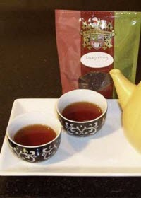 Celebrating with Darjeeling tea! (Photo by A.C. Cargill, all rights reserved)