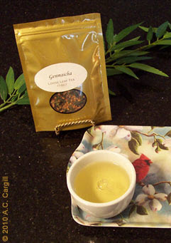Genmaicha: a cuppa saniTEA! (Photo by A.C. Cargill, all rights reserved)