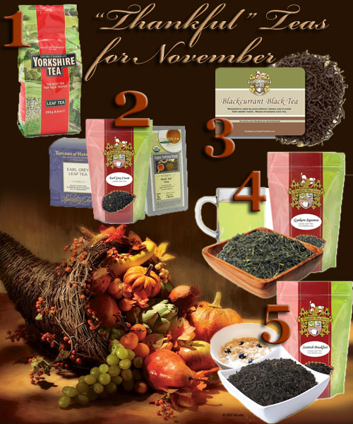 "5 ""Thankful"" November Teas! (ETS image composite by A.C. Cargill)"